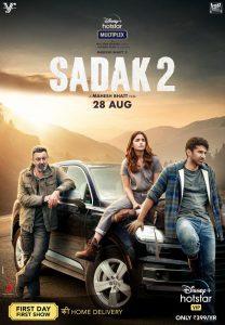 Sadak 2 (Latest Bollywood Movies On Amazon Prime, Netflix, And Hotstar)